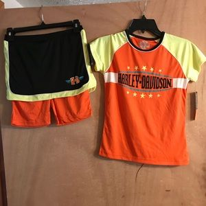 NWT Little Girl's Harley-Davidson Outfit